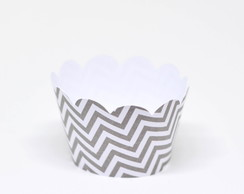 Saia/Wrapper MINI Cupcake CHEVRON CINZA