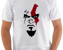 Camiseta God Of Wars #1 Face do Kratos