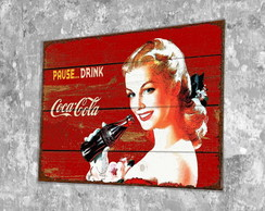 Placa Vintage / Retrô Coca Blonde