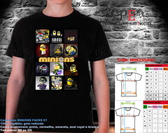 Camisetas Minions Faces 02