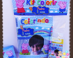 Kit Revista de colorir Peppa Pig