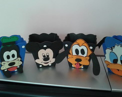 Cachepo MDF Turma do Mickey