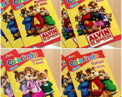 Mini Revista-Colorir Alvin e os esquilos