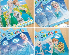 Mini Revista Colorir Frozen fever