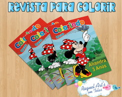 Revista de colorir Minnie Vermelha 2