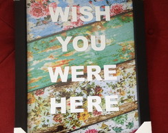 QUADRO DECORATIVO BORN 2 MISS YOU