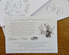 Convite Bodas De Prata Elo7