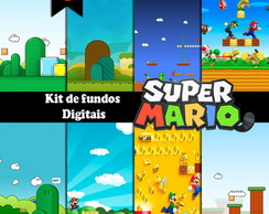 Kit de fundos Digital - Super Mario 2