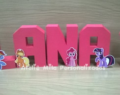 Letras 3d My Little Pony