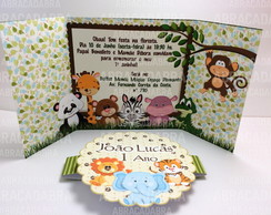 Convite Safari Cute scrap