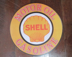 Placa Shell Gasoline