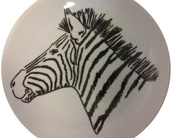 Prato Decorativo Zebra GD