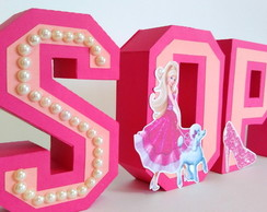 Letra 3D Barbie Paris