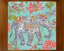 QUADRO DECOR VINTAGE - ELEFANTE INDIANO