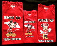 KIT CAMISETAS MICKEY