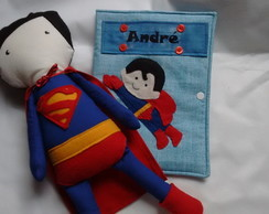 Kit Superman(Boneco + Capa de caderneta)