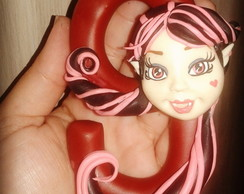 Vela personalizada biscuit Monster High