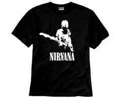 Camiseta de Rock Nirvana Kurt