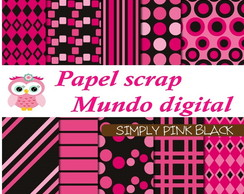 papel digital pink e preto 16-2