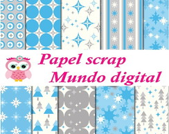 papel digital natal azul 16-7