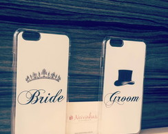 Cases Bride e Groom fundo Branco