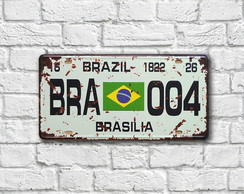 "Placa Decorativa ""Placa BRA 004"""