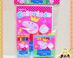 Kit Colorir massinha Peppa Fada Princesa