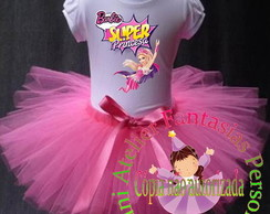 Fantasia tutu Barbie Super Princesa