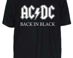 Camiseta AC/DC Banda de Rock Back in Black