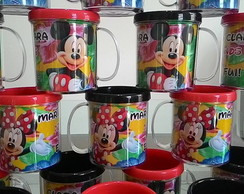 Caneca mickey e minnie festa junina