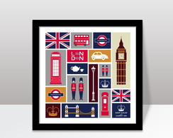 Quadro London L3 c/ Moldura