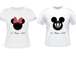 Kit noivos Minnie Laço e Mickey