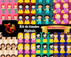 Kit fundos digitais- Princesas