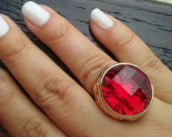 Anel Cristal Red