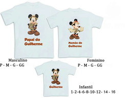 Kit 3 Camisetas Mickey Safari