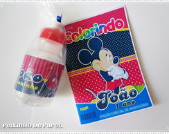 Kit Revista e Squeeze Mickey Mouse