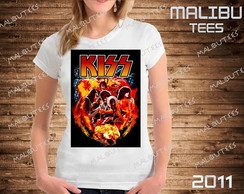 baby look Kiss bandas rock cantor