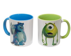 Kit Canecas Monstros S.A Sulley e Mike