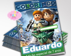 Revista de Colorir Star Wars Lego