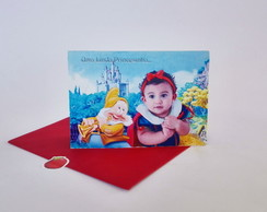 Convite Branca de Neve Pop up -3D