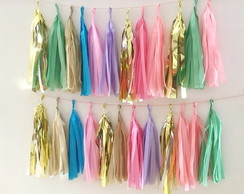MINI Tassel Garland Franjas CANDY COLOR