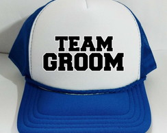 Boné Trucker Team Groom Bride Noivo