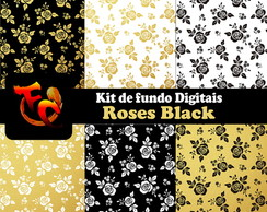Kit Digital - Roses Black
