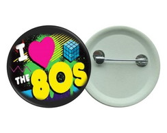 Botton 3,5 - I Love anos 80 - Botons