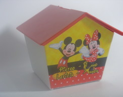 Casinha Cofre Mickey e Minnie