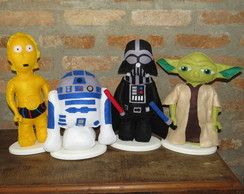 Star Wars Feltro Darth Yoda C3PO R2D2