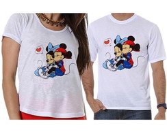 Camisetas Casal Minnie e Mickey