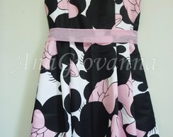 Vestido Adulto Minnie Rosa