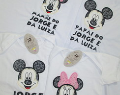 Kit 4 Camisetas Mickey e Minnie