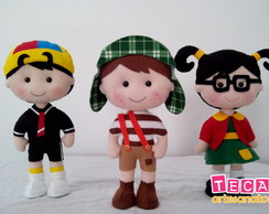 Kit 3 bonecos Turma do Chaves